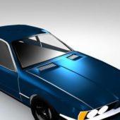Blue Paint Car