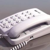 Vintage Table White Telephone