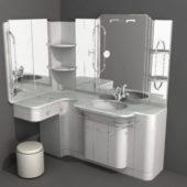 Bathroom Design With Full Vanity Set