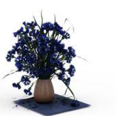 Indoor Cornflowers In Vase