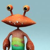 Crab Cartoon Animal Character