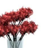 Crystal Vase Flowers