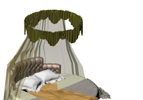 Curtained Round Bed Furniture