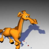 Cartoon Baby Giraffe Rigged