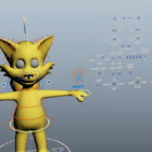 Cartoon Fox Rigged Character