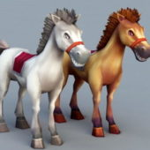 Animal Beauty Cartoon Horses