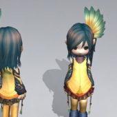 Cute Character Emo Anime Girl