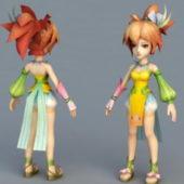 Cute Fairy Girl Character