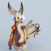Gaming Character Cute Fox Girl