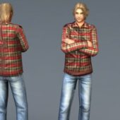 Cute Guy Blonde Hair Game Character