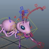 Pink Ant Rigged