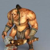 Cyclops Warrior Concept Game Character