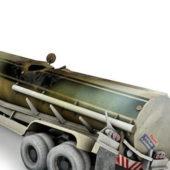Damaged Fuel Tanker Truck