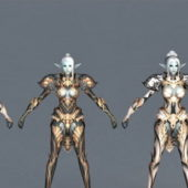 Game Character Elf Armor Set