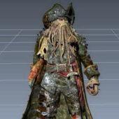 Caribbean Pirate Davy Jones Character