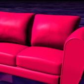 Home Furniture Deep Pink Loveseat