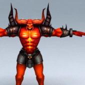 Demon Bull Warrior Character