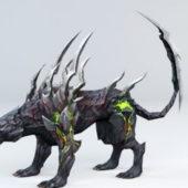 Demon Panther Fantasy Animal