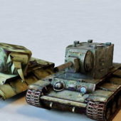 Destroyed Soviet Kv2 Tank