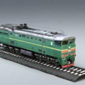 Old Diesel Locomotive Engine