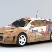 Vehicle Dirty Rally Car