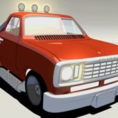 Cartoon Dodge Pickup Truck