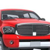 Red Dodge Ram Pickup Car