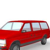 Red Dodge Station Wagon Car