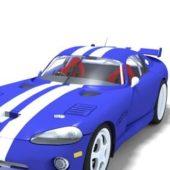 Blue Dodge Viper Car