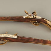 Vintage Flintlock Pistol Gun