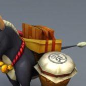 Donkey Carrying Cargo Animal