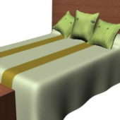 Double Bed With Headboard And Stool