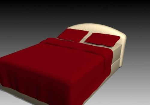 Double Bed With Bed Sheet
