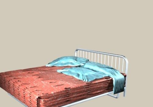 Furniture Double Size Iron Bed