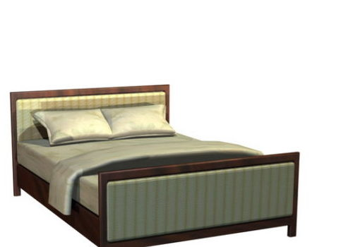 Double Size Wood Platform Bed