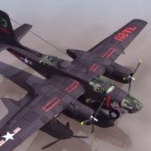 Douglas A-26 Invader Bomber Military Aircraft