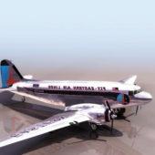 Ww2 Douglas Dc-3 Vintage Aircraft