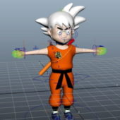 Dragon Ball Character Goku Rigged