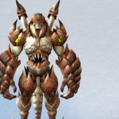 Dragonkin Fighter Game Character