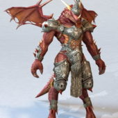 Dragonkin Male Warrior Character