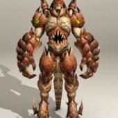 Character Drakan Guard Animated Rigged