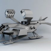 War Weapon Drop-ship Concept Vehicle