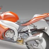 Orange Dual-sport Motorcycle