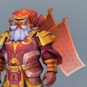 Dwarf Warrior Game Character