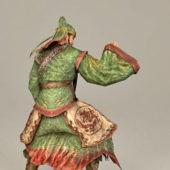 Character Warrior Guan Yu