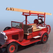 Vintage Early Pump-ladder Truck