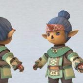 Elf Chibi Boy Cartoon Character