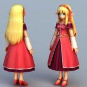 Anime Character Elf Princess