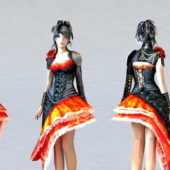 Emo Dress Girl Character