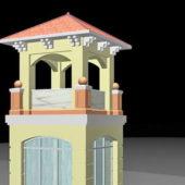 Brick Pavilion Tower Style
